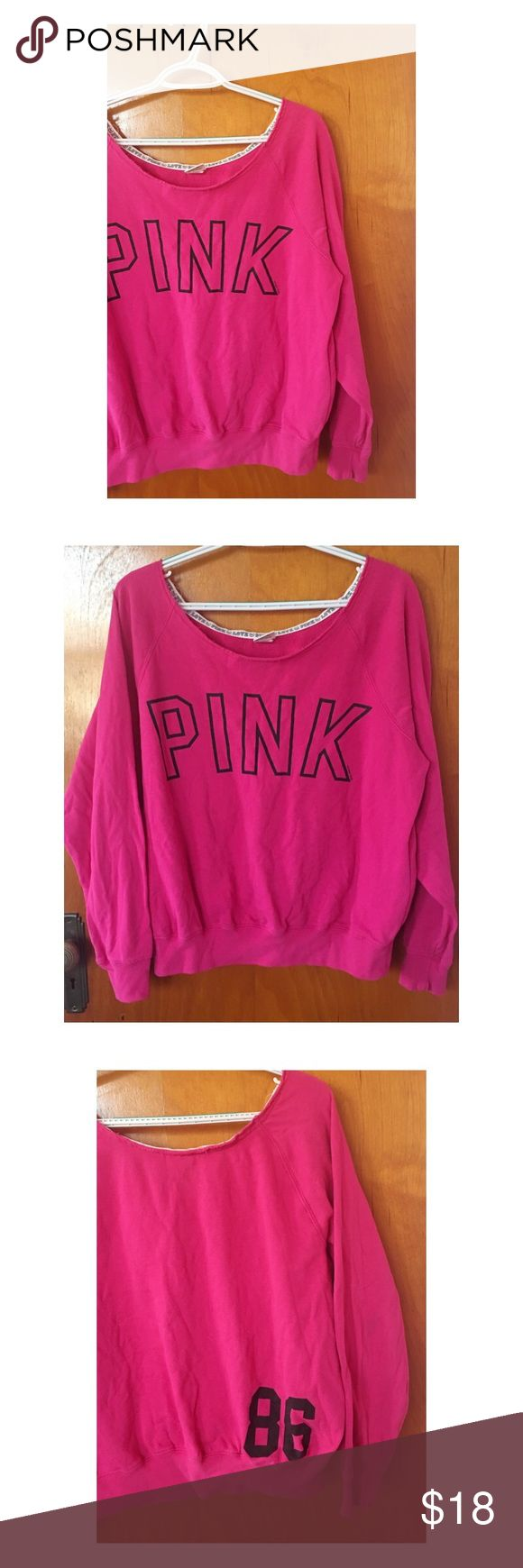 Victoria's Secret PINK Sweatshirt This Victoria's Secret PINK Sweatshirt is in great condition and a size Medium. It is long sleeved and slouchy style. PINK Victoria's Secret Tops Sweatshirts & Hoodies
