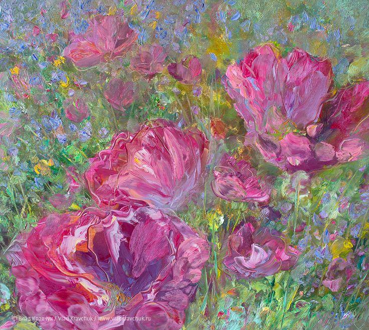 Розовые маки, 2012. Холст, масло, 70х80