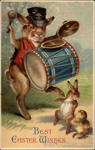 """Кролики в ИЗО Julius Saul Greeting Card ~ Nude Boy with Bunnies A Midsummer Night's Dream, Titania and Bottom 1848-51. Не так давно в комментариях была просьба показать викторианских кроликов. Тут всякие и всех эпох: живопись, открытки, реклама, иллюстрации к """"Алисе в стране чудес"""".…"""
