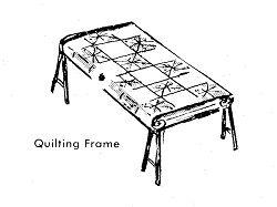 free quilt frame plans, build a quilt frame, instructions, making a quilt fram