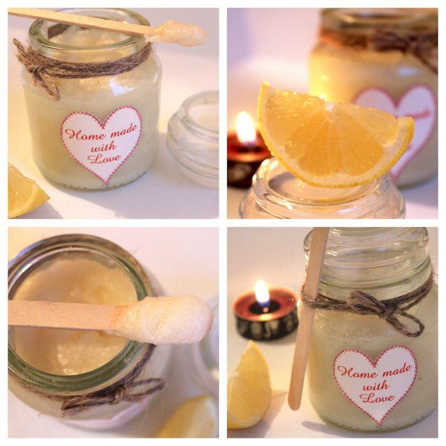 Make your own lemon sugar body scrub