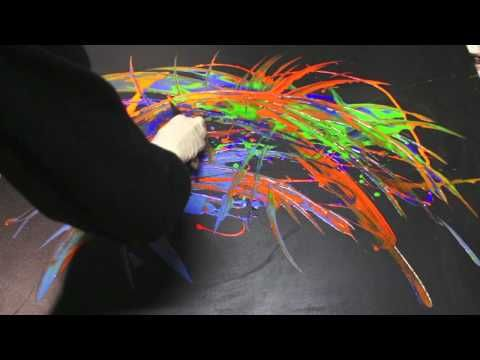 Abstract Acrylic Painting for beginners in only 10 minutes, Acrylmalerei, full Demo - YouTube