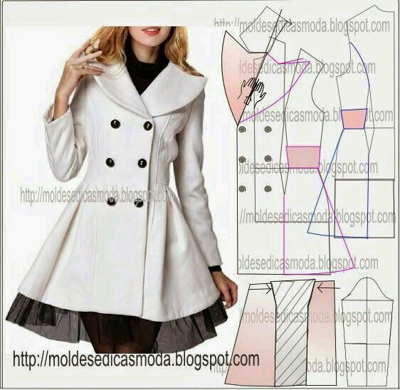 Coat from Moldes Moda