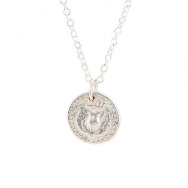 A cute miniature version of our Bawbee Coin necklace with its wee thistle on the front.   SMALL BAWBEE COIN NECKLACE - from £85.