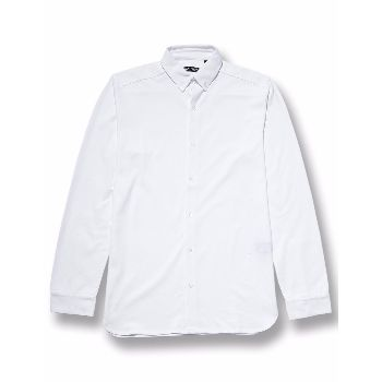 Wolsey  White Pique Button Down Shirt: This clean and modern long sleeve pique white jersey shirt is from Western Assembly British premium menswear designer, Wolsey. Featuring minimal outer stitching and full button through placket with button cuffs.