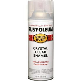 Rust Oleum 12 Oz Crystal Clear Gloss Spray Paint Enamel Spray Paint Rustoleum Red Spray Paint