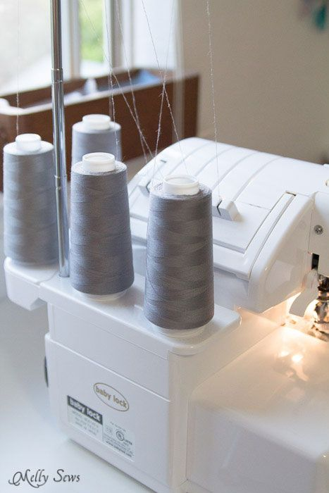 Tips for faster sewing - Melly Sews - Use Gray Thread for Inside Seams This is a trick I learned from my years of theatre. If it's not couture, it's unlikely that people are going to see and/or care about what color thread you used on the inside of things. So go with gray. It blends into most everything.