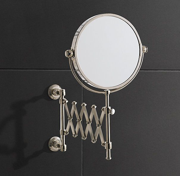 satin nickel bathroom mirror lugarno extension mirror restoration hardware 20309