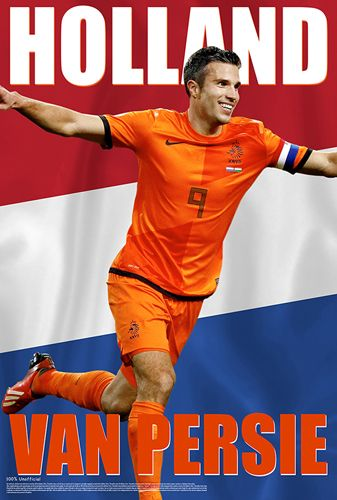 Robin Van Persie Holland Hero World Cup 2014 Soccer Superstar Poster - Starz