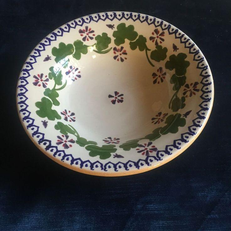 "Nicholas Mosse Irish pottery blue geranium 7 3/4"" all purpose bowl"
