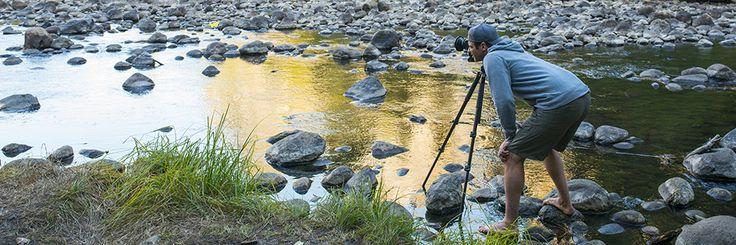 Shaun down on the Merced River, waiting for last light on El Capitan, Yosemite N.P.