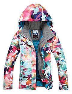 GSOU SNOW Mujer Chaqueta de Esquí Impermeable Mantiene abrigado Resistente al Viento Listo para vestir Transpirable Esquí Deportes de – EUR € 272.32
