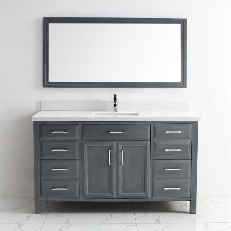 Shop Spa Bathe  CA60 Calumet 60-in Single Sink Vanity with Solid Surface Top at Lowe's Canada. Find our selection of bathroom vanities at the lowest price guaranteed with price match + 10% off.