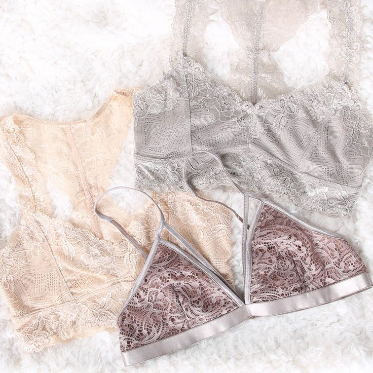 Can't get enough of these lace bralettes! So pretty.