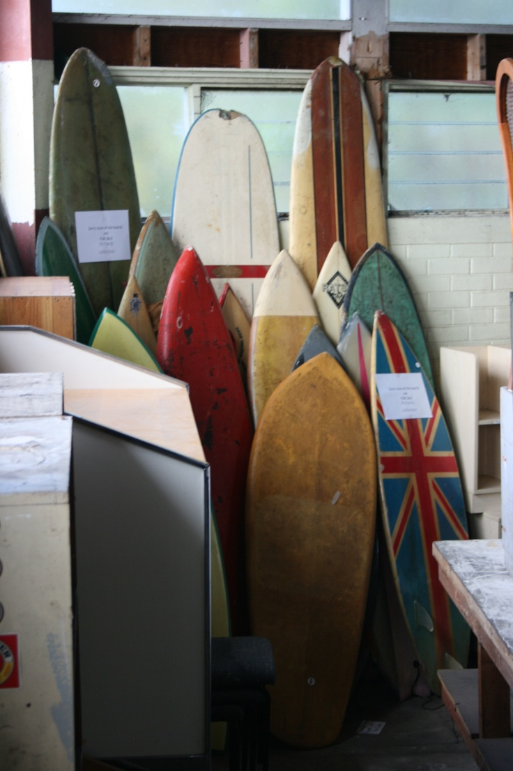 Richard's beloved surfboards - available for hireage only!  NOT for sale - or else I will need a divorce!