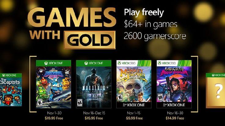 Juegos Xbox Live con suscripción Gold para Noviembre 2016