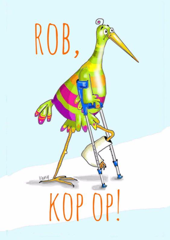 Pechvogel heeft been gebroken, verkrijgbaar bij #kaartje2go voor €0,99