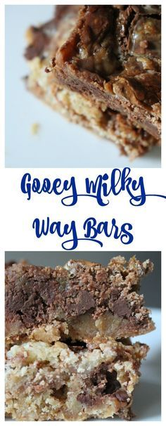 Gooey Milky Way Bars. A great way to leftover Halloween candy. A delicious chocolate dessert bars.