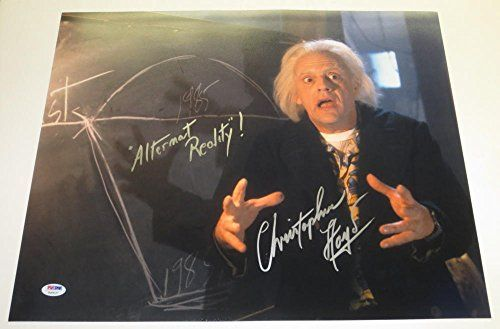 CHRISTOPHER LLOYD SIGNED 16X20 PHOTO BACK TO THE FUTURE INSCRIPTION PROOF PSA B @ niftywarehouse.com #NiftyWarehouse #BackToTheFuture #Movie #Film #Movies #Gifts