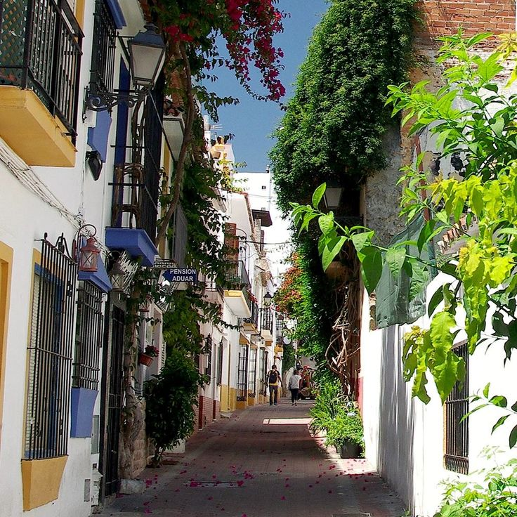 Narrow Street in Marbella Old Town