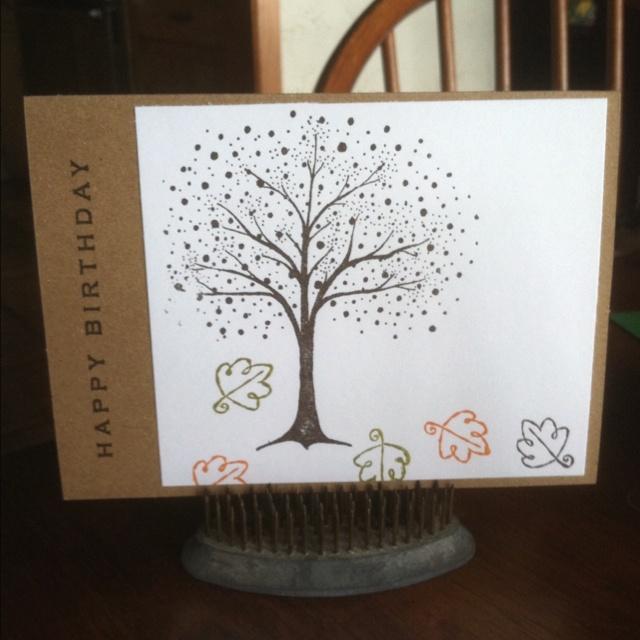 Male Fall Birthday Card!!