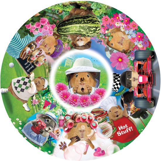 The Crazy Crew Circular Jigsaw Puzzle