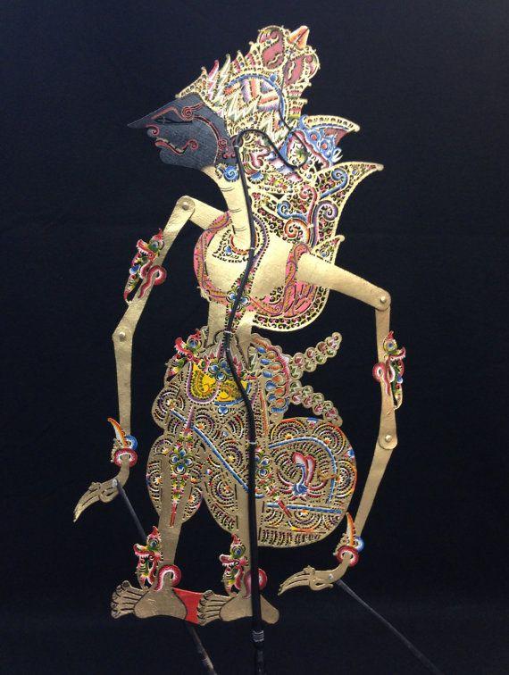 Wayang Kulit Shadow Puppet Kresna from Java by EthnicArtandJewelry, $99.95