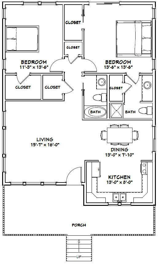 Pdf House Plans Garage Plans Shed Plans Small House Floor Plans 30x40 House Plans 2 Bedroom House Plans
