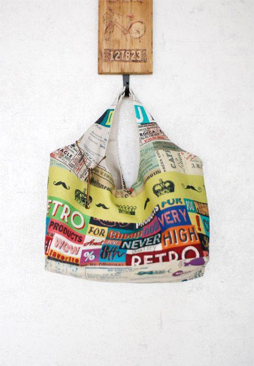 Tessuto Hobo Bag fai da te fai da te ~ Tutorial idee!