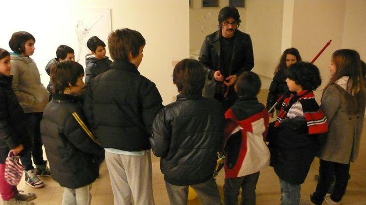 Martedì 8 gennaio 2013/Museo della Battaglia del Senio e Cinema Gulliver Alfonsine RA/Laboratorio di ginnica del segno con Giuliano Guatta