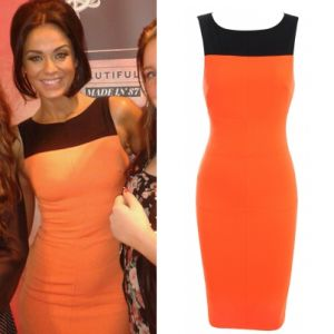 Where did Vicky Pattison get her orange dress from at the Clothes Show Live 7/12/13? - Style on Screen