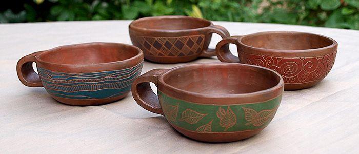 Taller de Cerámica Imaymana   Con inspiración precolombina   Tazas, vasos.