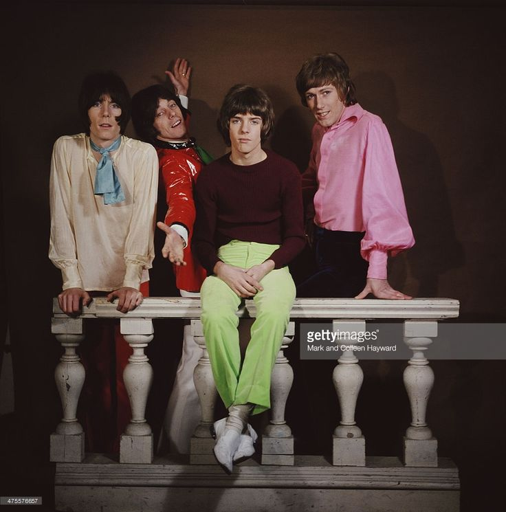 English pop group The Herd, 1967. Left to right: keyboard player Andy Bown