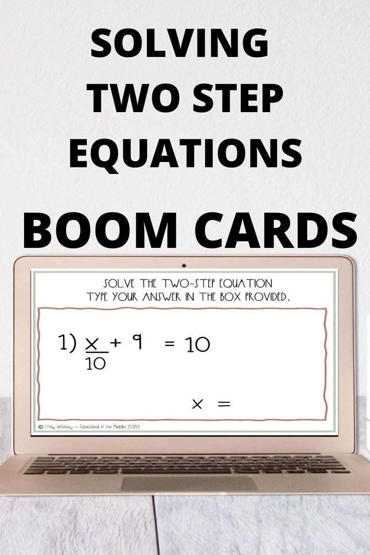 Solving two step equation boom cards in 2020 Two step