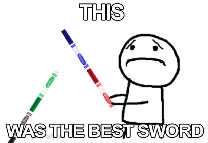 Marker swords!!!  #90s all true except the rugrats thing - wtf?
