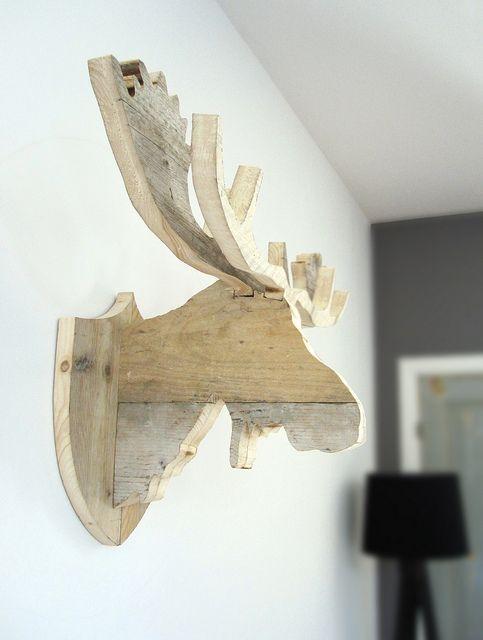 Rendier / Eland / Moose 'Henk' van steigerhout | Te koop bij w00tdesign