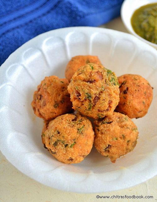 INSTANT KADALAI MAAVU BONDA RECIPE-BESAN FLOUR SNACKS RECIPES | Chitra's Food Book