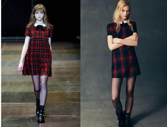 clones: Vestido tartan Saint Laurent Vs Primark - Paperblog