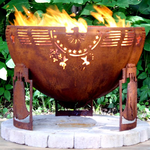 """Freedom Fire 37"""" Hand Crafted Steel Fire Pit 