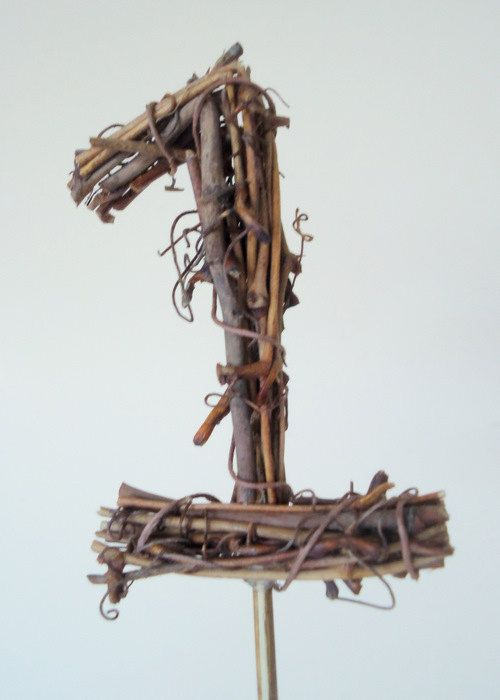 Woodland Birthday Cake Topper Natural Grapevine by MadeMerriShop, $24.00