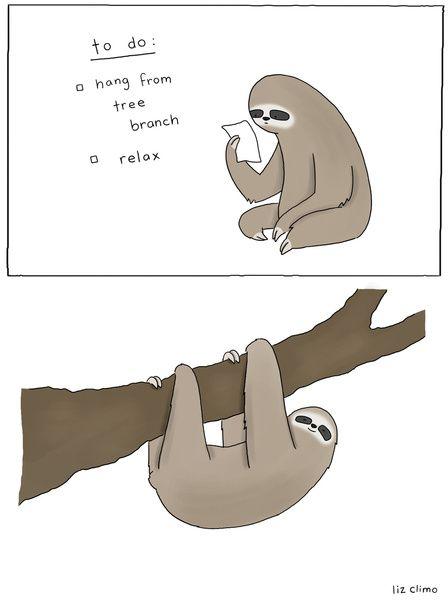 Sloth To-Do List Art Print
