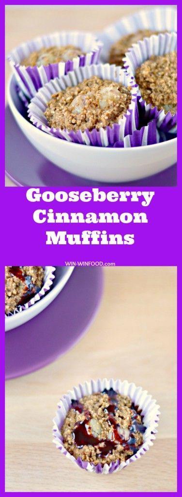 Gooseberry Cinnamon Muffins | WIN-WINFOOD.com #cleaneating #vegan #glutenfree…