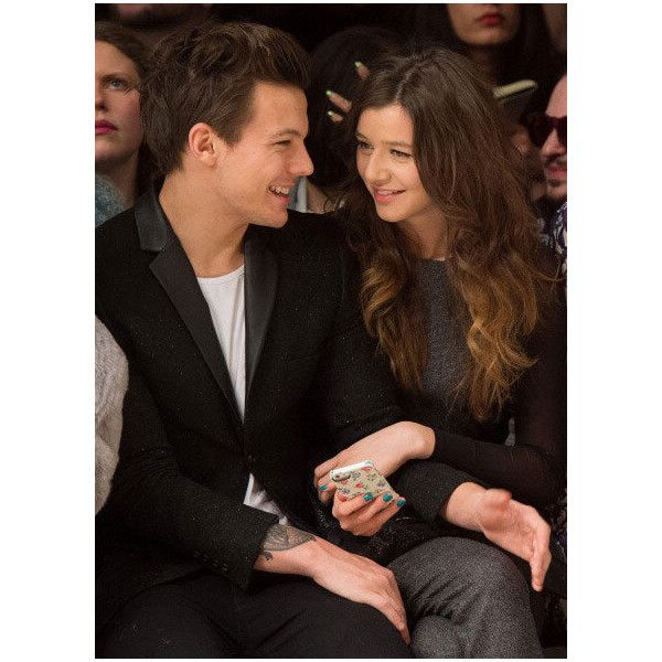 Photos One Direction's Louis takes his GF to London Fashion Week ❤ liked on Polyvore featuring one direction, eleanor calder, louis tomlinson, louis and eleanor