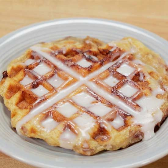 It all starts with a can of cinnamon roll dough. Make waffles, muffins, and more with a can of purchased cinnamon rolls.