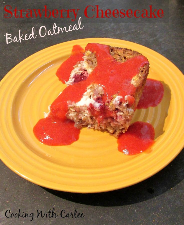 The perfect excuse to have cheesecake for breakfast and it's pretty healthy too!   Strawberry Cheesecake Baked Oatmeal is a fun way to switch up your breakfast routine!