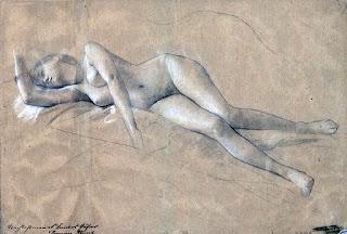 Gustav Klimt- Sketch of a Woman