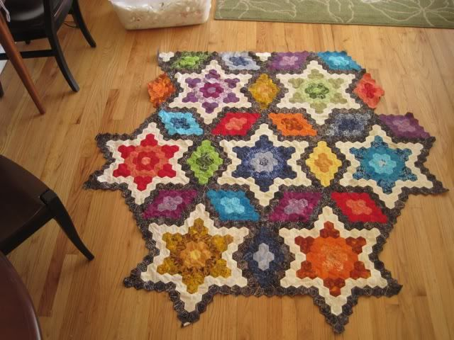 another nice hexie quilt