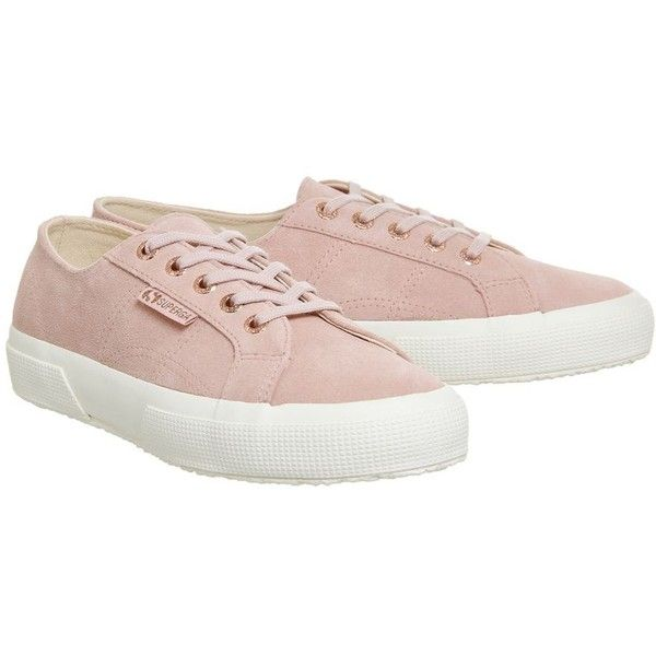 Superga 2750 Trainers by Superga Supplied by Office ($84) ❤ liked on Polyvore featuring shoes, sneakers, pink, tenny shoes, superga trainers, superga sneakers, tennis trainer and pink shoes