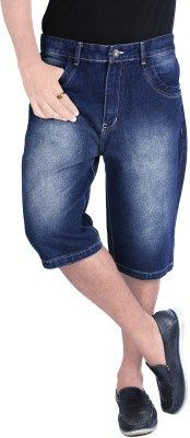 uber urban solid men s denim three fourths