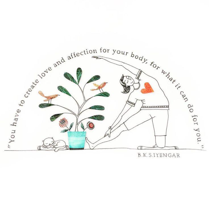"Gefällt 182 Mal, 8 Kommentare - IYENGAR Yoga studioAustralia (@bayside_yoga) auf Instagram: ""Love and affection for your body! . . . . . . #illustration #yoga #iyengaryoga #baysideyoga…"""